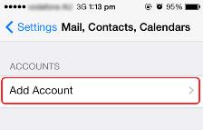 Email Setup IOS | SkyMesh