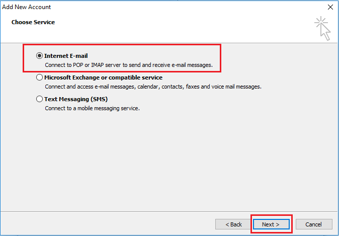 Email Setup Outlook 2010   SkyMesh