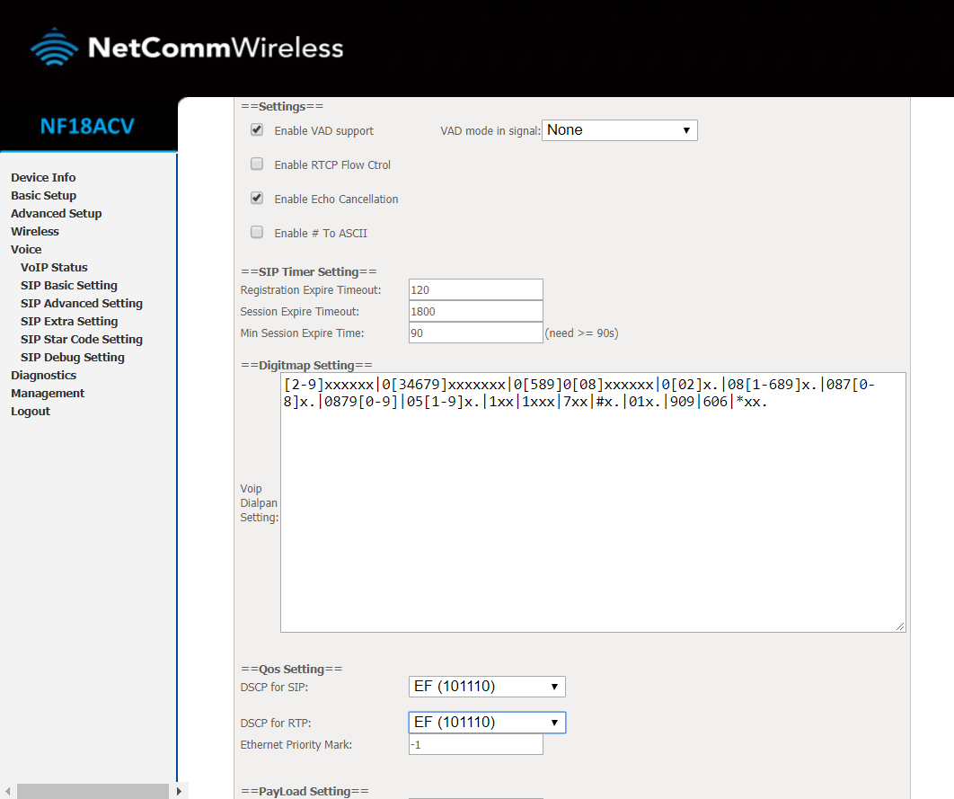 VoIP setup guide: SkyMesh supplied Netcomm NF18ACV